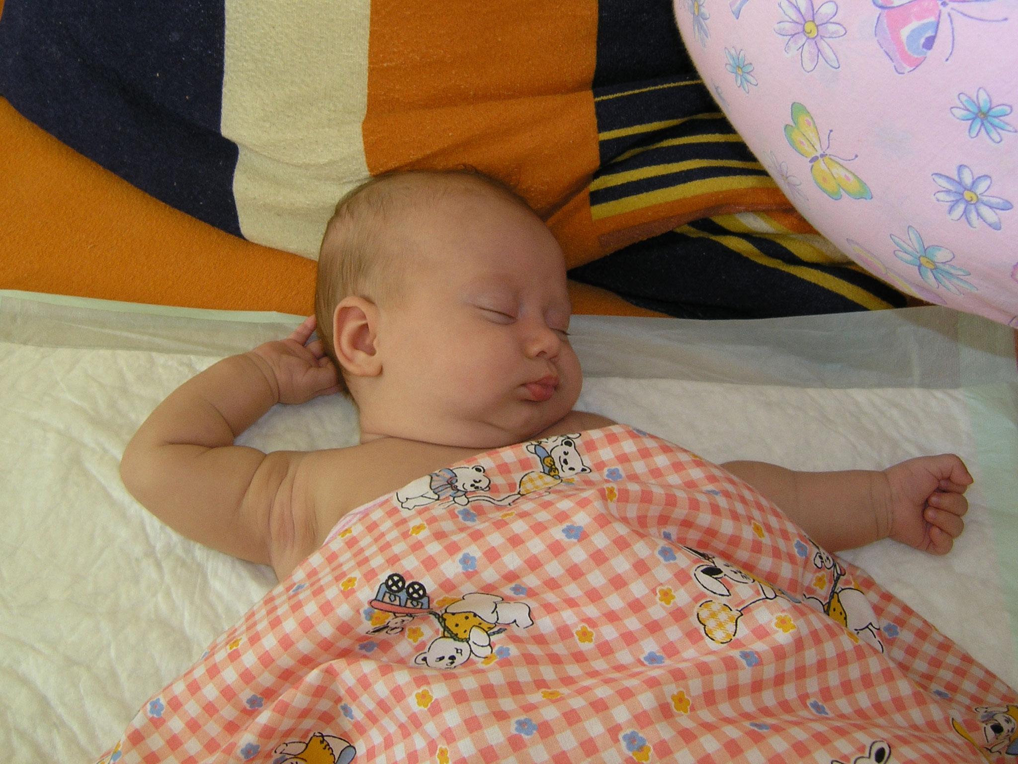 Kristina Karpenko sleeps