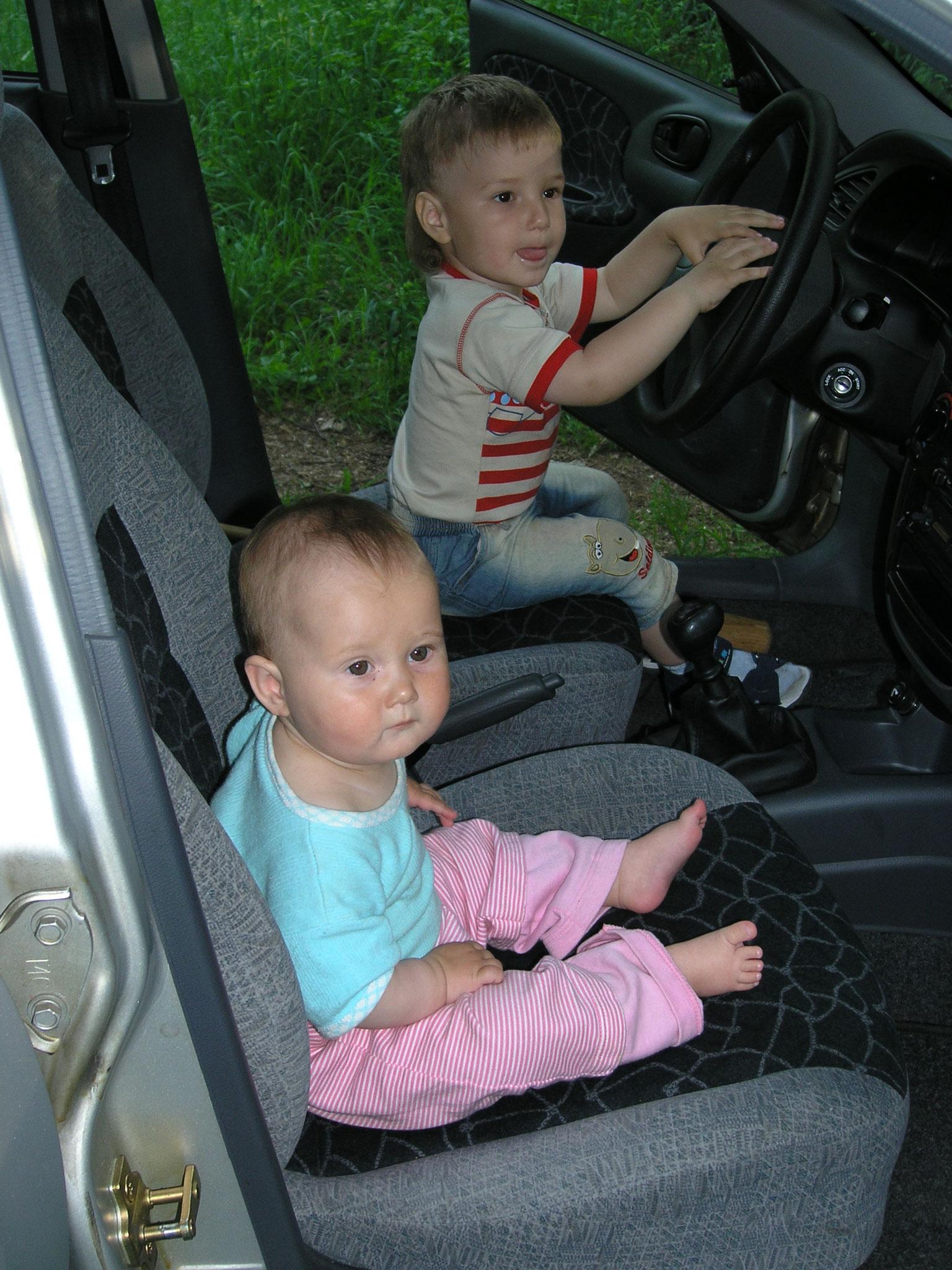 Kristina Karpenko in the car